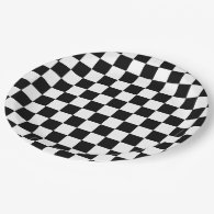 Checker Flag Paper Plate