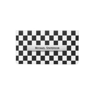 Checker  Flag Personal Checkbook Cover