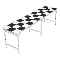 Checker Flag Pong Table