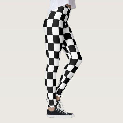 Checker Flag Race Leggings
