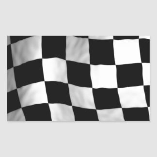 Checker Flag Rectangular Sticker