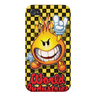 Checker Flameboy Cover For iPhone 4