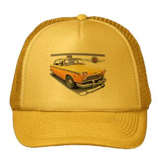 checker marathon yellow cab trucker hat
