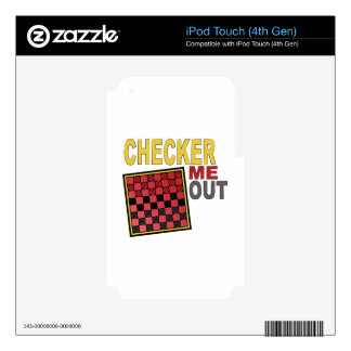 Checker Me Out iPod Touch 4G Skins