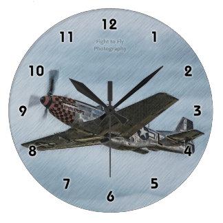 Checker Nose Mustang - Clock