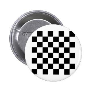 Checker Pattern 2 Inch Round Button