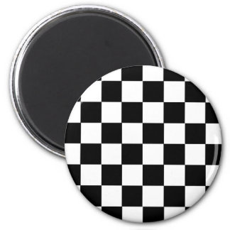 Checker Pattern 2 Inch Round Magnet