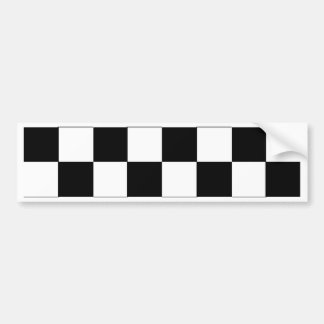 Checker Pattern Bumper Sticker