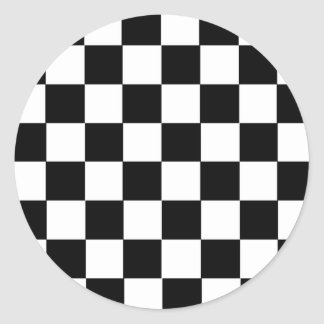 Checker Pattern Classic Round Sticker