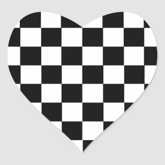 Checker Pattern Heart Sticker