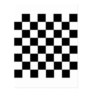 Checker Pattern Postcard