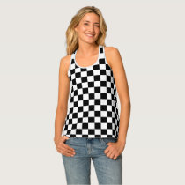 Checker Patterned Tank Top
