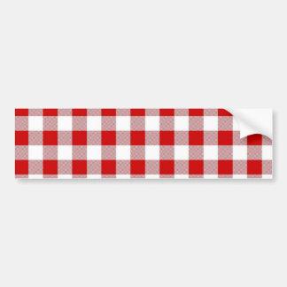 Checker Picnic Cloth Bumper Sticker