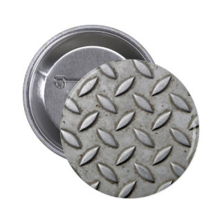 Checker Plate Industrial Warehouse Steel Chic Button