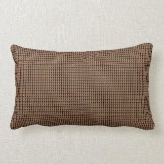 "Checker Polyester Lumbar Pillow 13"" x 21"""