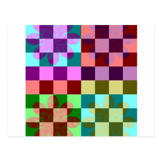 Checker Pop Postcard