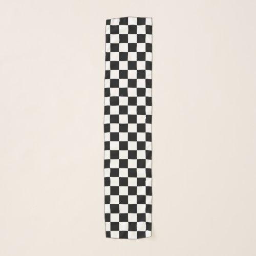 Checker Race Flag Design Scarf