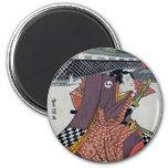 Checker Samurai 2 Inch Round Magnet