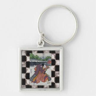 Checker Samurai Key Chain