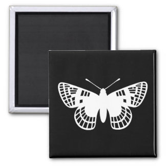 Checker Spot Butterfly Magnet