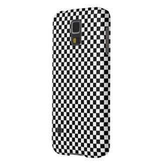 Checker Square Illusion Black and White Case For Galaxy S5