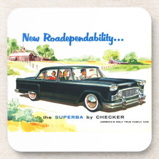 Checker Superbra Coaster