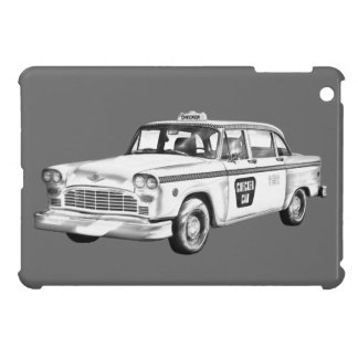Checker Taxi Cab Illustration Case For The iPad Mini