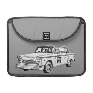 Checker Taxi Cab Illustration MacBook Pro Sleeve