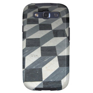 Checker Tiles Illusion Galaxy SIII Covers