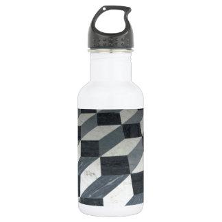 Checker Tiles Illusion 18oz Water Bottle