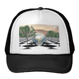 Checker Trees Trucker Hat
