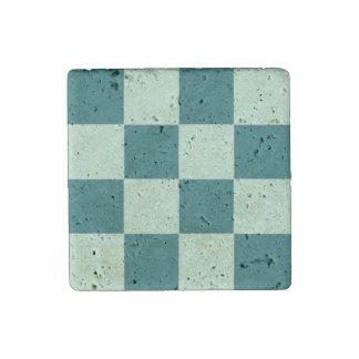 Checkerboard3 Travertine Magnet