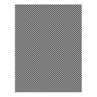 CHECKERBOARD! (a black & white pattern design) ~ Postcard