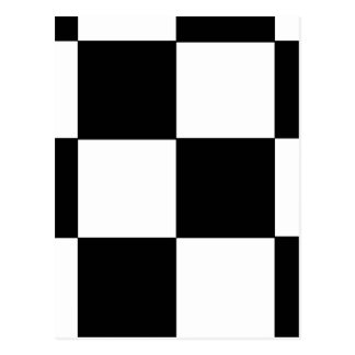 CHECKERBOARD! (a square tile design) ~ Postcard