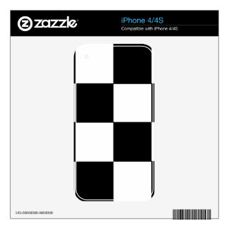 CHECKERBOARD! (a square tile design) ~ iPhone 4 Skins