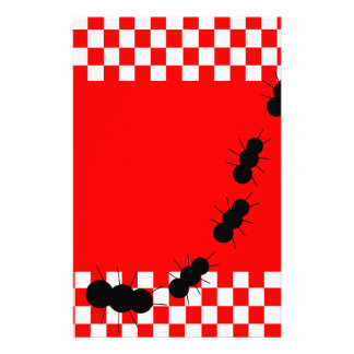 Checkerboard Ants Stationery