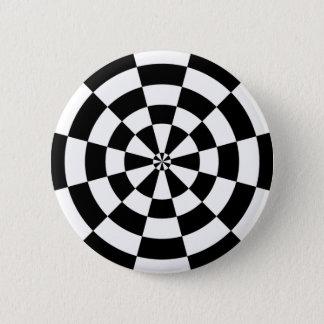 Checkerboard Badge Pinback Button