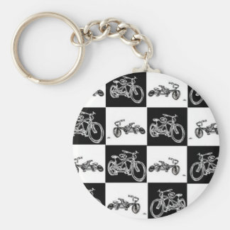 CheckerBoard Bicycles Keychain