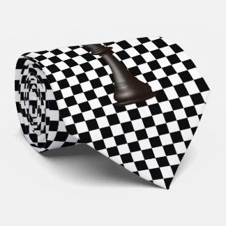 Checkerboard Black White Neck Tie