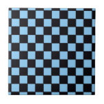 Checkerboard Blue & Black Abstract Tiles