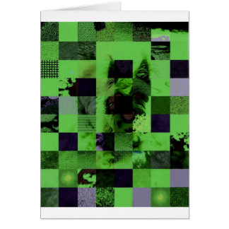 Checkerboard Board Dog Card