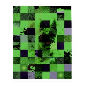 Checkerboard Board Dog Postcard