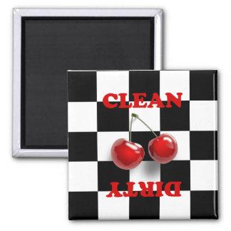 Checkerboard Cherries Magnet