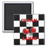 Checkerboard Cherries Magnet Magnet