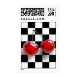Checkerboard Cherries Postage
