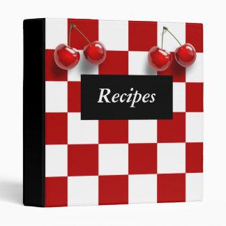 Checkerboard Cherries Recipe Binder