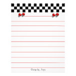 Checkerboard Cherries Recipe Paper