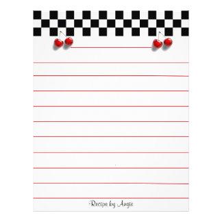 Checkerboard Cherries Recipe Paper Custom Flyer