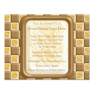 Checkerboard - Chocolate Marshmallow Personalized Announcement