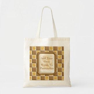 Checkerboard - Chocolate Marshmallow Tote Bag